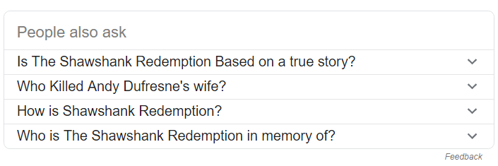 Snippety po wpisaniu Shawshank Redemption