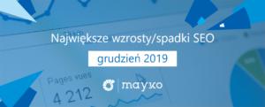 Największe wzrosty/spadki SEO – GRUDZIEŃ 2019