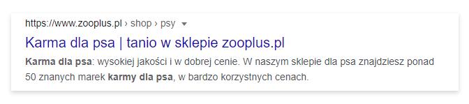 meta tagi w wyszukiwarce Google